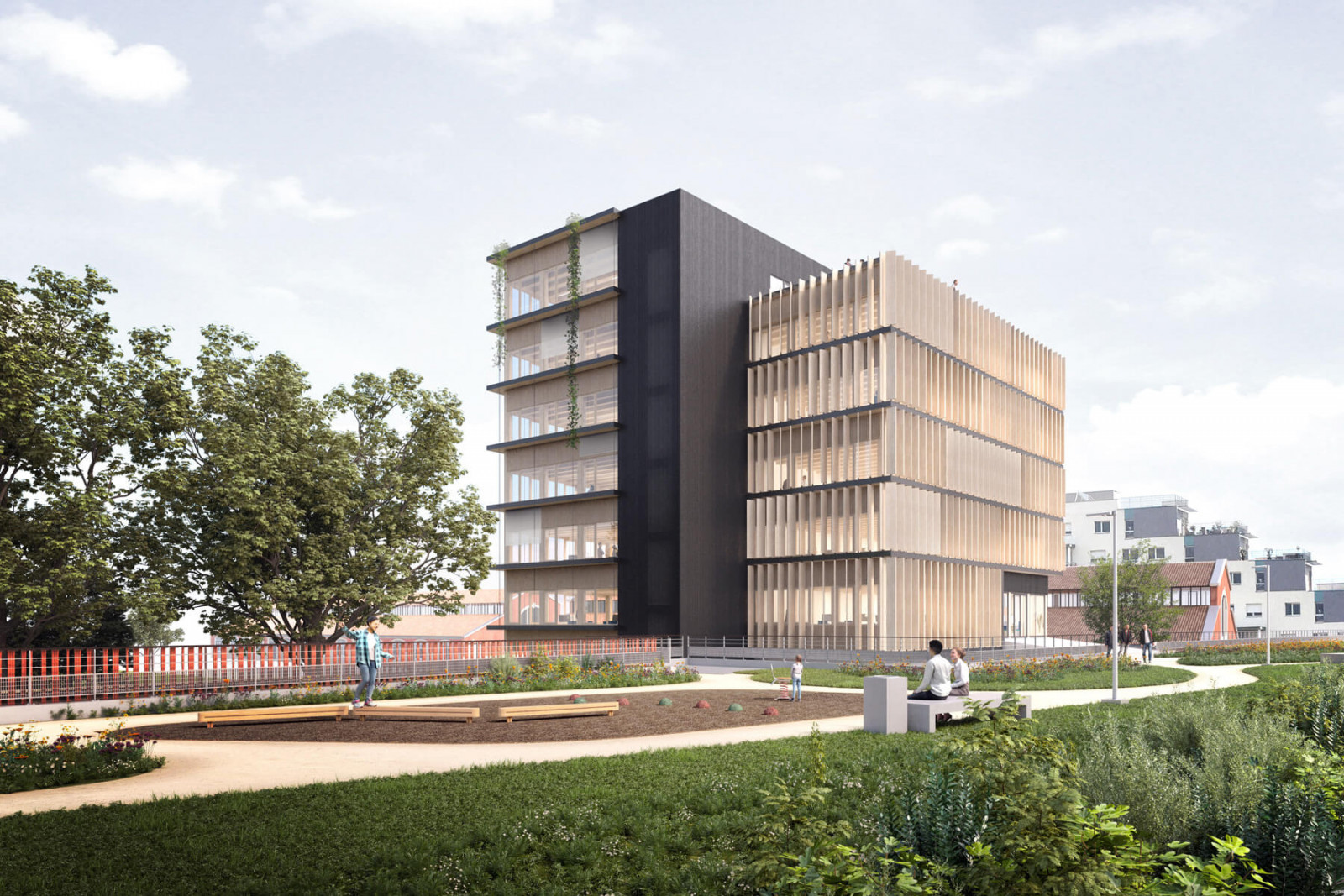 graam-ecopolis-02-bureaux-dijon-exterieur-facade-sud-ventelle-bois